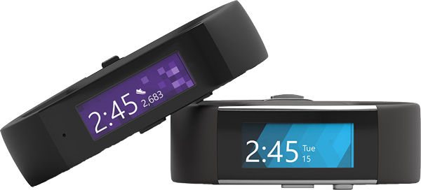 Microsoft Band 1 and 2