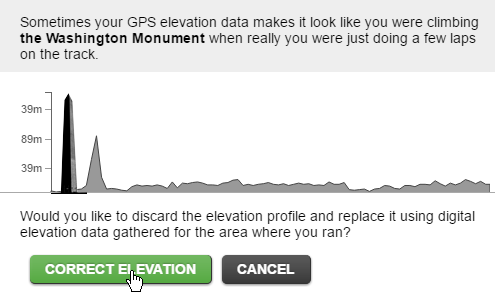 Correct elevation